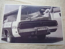 1969 DODGE CHARGER  DAYTONA WITH MISS PERMATEX GIRL   11 X 17  PHOTO   PICTURE