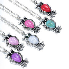 6pcs Wholesale Vintage Owl Pendant Necklace Long Chain Rhinestone Jewelry NEW C3