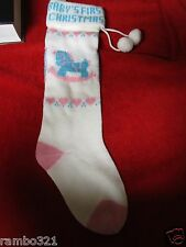 Baby's First Christmas XMAS Holiday Stocking Babies Children Boys Girls