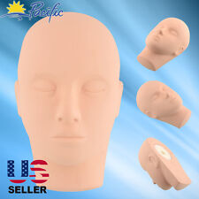 Training Mannequin Head Soft Rubber Practice Makeup Massage FREE 3 EYELASHES
