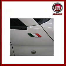Genuine Fiat 500 Italian Flag Wing Badges / Emblems. New. 50901681