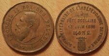 Médaille Belgique, 50° anniversaire de l'indépendance, Fête scolaire Mons 1880 !