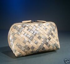 BOTTEGA VENETA Woven Mixed Snake Leather CLUTCH BAG Pouch / Now 45% OFF of $659
