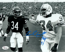 "EARL CAMPBELL AUTOGRAPHED HOUSTON OILERS 8X10 PHOTO ""HOF"" (w/PAYTON) 10769 JSA"