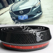 Rubber Front Bumper Edge Strip Chin Protection Side Skirts Spoiler Lip for Mazda