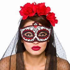 Adults Day Of The Dead Deluxe Mexican Eye Mask Fancy Dress Costume Accessory New