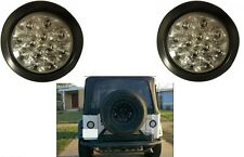 """(2) Red 4"""" Round LED Stop/Turn/Tail Light Kit with Clear Lens New Free Shipping"""