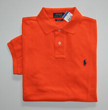 NWT Men's Ralph Lauren Short-Sleeve Polo Shirt, Orange, Custom Fit, M, Medium