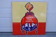 "Vintage Sherwin Williams Paints ""Cover the Earth"" Original Porcelain Sign RARE"
