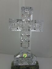 Waterford Crystal Ventry Cross & Marble Base Made In Ireland