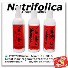 NUTRIFOLICA HAIR LOSS REGROWTH 3 PACK COMBO treatment shampoo conditioner growth