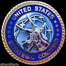 U.S. STRATEGIC COMMAND NUCLEAR MISSILE DEFENSE SHIELD ID BREAST BADGE MEDAL