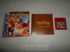 NEW BATTERY!! Pokemon Red WORN COMPLETE BOX - Nintendo Gameboy 1226rd