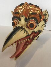ANTIQUE BALI-INDONESIA HAND CARVED PAINTED WOOD MASK RARE FORM
