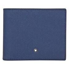 MONTBLANC SARTORIAL 113213 Leder Brieftasche Portemonnaie 8cc Indigo NEU OVP