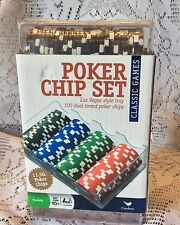 Cardinal industries 11.5 clay poker chips 100 dual toned new with tray
