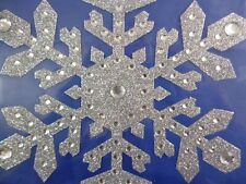8 Inch Large Silver Snowflake Window Sticker - Christmas Decoration (PM338)