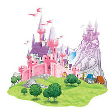 Party Supplies Birthday Girls Decorations  Princess Castle Cutout Props