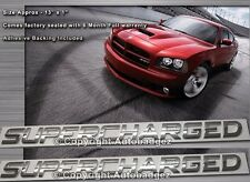 2 - brand new SUPERCHARGED chrome badge emblems dodge charger monte carlo