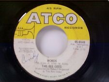 """BEE GEES """"WORDS / SINKING SHIPS"""" 45"""
