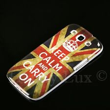 Samsung Galaxy S3 NEO i9300 Hard Case Schutz Hülle Motiv Etui Keep Calm Carry ON