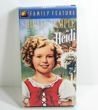 Shirley Temple HEIDI Movie  (VHS, 2001, Colorized/Slipsleeve) Video Movie Film