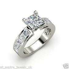 1.96 CT PRINCESS CUT DIAMOND SOLITAIRE ENGAGEMENT RING SOLID 14ct WHITE GOLD