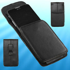 Black PU Horizontal Cell Phone Holder Cover Case Pouch Swivel Belt Clip Holster