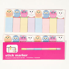 120 Sheets Cute Owls Birds Mini Sticky Notes Page Marker Memo Tab Sticker UK