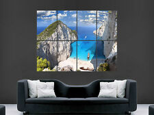 PARADISE COVE POSTER BEACH SEA TROPICAL ART WALL LARGE IMAGE GIANT