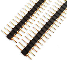 Male round turned pin headers connectors 4 rows x 40 pins gold plated