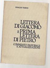 lettera di giacomo e prima lettera di pietro - rinaldo fabris - 1980