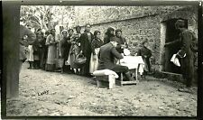 AMERICAN RED CROSS FOOD DISTRIBUTION IN VODENA, MACEDONIA 1910s MERL LAVOY PHOTO