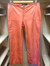 Banana Republic Genuine Leather Coral Pink Pants Size 2