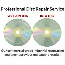 5 CD DVD Video Game Disc Repair Service Fix Scratch Resurface Damage Wii Xbox360
