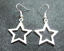 Cute New Tibetan Silver Star Charm Dangle Drop Earrings