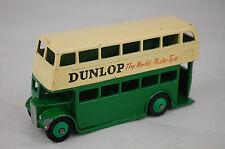 """Dinky 29C Double Decker Bus """"Dunlop"""" Type 3 Leyland Grill 1954 4"""" Long Near Mint"""