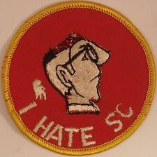 VINTAGE I HATE SC patch RARE college football 60s beauty!