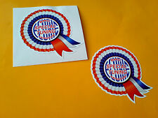 BMC SPECIAL TUNING Rosette Helmet Car Classic Retro Car Stickers 1 off pair 50mm