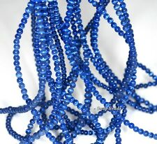 2.5MM  CAT EYE'S  GEMSTONE BLUE ROUND 2.5MM LOOSE BEADS 15.5""