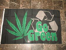 3x5 Marijuana Weed Go Green 7 Point Leaf Recycle Flag 3'x5' Brass Grommets