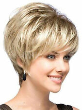 New sexy ladies short Blonde Natural Hair wigs + Wig cap