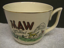 Vtg MAW COME GIT YER COFFEE Mug Gold Trim Japan Hillbilly Country Farm Horse