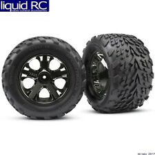 Traxxas 3669A All-Star Black Chrome Wheels Talon Tires