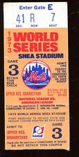 1973 World Series Ticket Stub Oakland A's at New York Mets Game 3