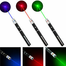 3 x Laser Pen Beam Light Green + Blue + Red Lazer Light Pointer 3 Pieces