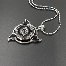 Anime NARUTO Konoha Logo Rotatable Alloy Pendant Necklace Cosplay Fashion Gift