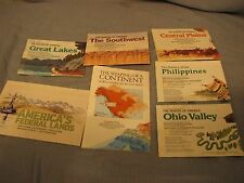 LOT OF 7 MAPS FROM NATIONAL GEOGRAPHIC SOCIETY  MAKING OF THE US AND OTHERS
