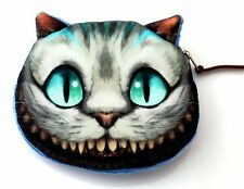 Women Girls Cute Cheshire Cat Purse Wallet Fashion Handbag Clutch Coins Bag Zip