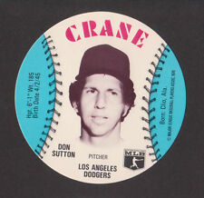 1976 Crane Discs DON SUTTON Los Angeles Dodgers MINT